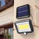 128/120/100COB 98/56SMD LED Solar Powered Garden Sensor Lights Waterproof