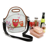 Stretchy Neoprene Isolated Lunch Bag Tote Reusable Bento Container Organizer Met Schouder Gordel