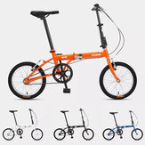 [From ] FOREVER 16 Inch Folding Bicycle Aluminum Lightweight Foldable Mini Bike V Brake Urban Commuter Bicycle