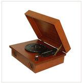 Bakeey bluetooth player de vinil artesanato em madeira gramofone toca-discos multifuncional portátil speaker