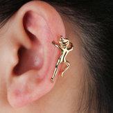 Komik Şekil Jimnastikçi İnsan Şekli Yok Piercing Kulak Klip