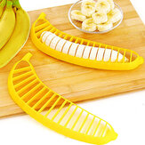 Banana Slicer Banana Cutter Chopper Salad Buah Sundaes Chopper Kitchen Buah Alat Salad Aksesori