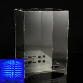 Transparent Acrylic Module Case Housing For 8x8x8 3D Light Cube Kit