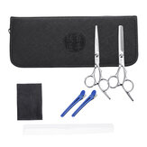 4CR13 Hair Cutting Scissors Handheld Hair Trimmer Shear Hair Beauty Scissors Set Barber Tool