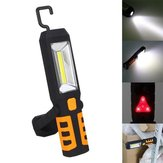 Portable 3W COB LED USB Rechargeable Work Light Magnetic Hanging Torch for Outdoor Camping