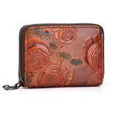 Brenice Women Vintage Floral Card Holder Coin Purse Wallet