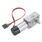 Machifit JGY-370 DC 6V Reduction Gear Turbine Motor Worm Self-locking Encoder Motor Signal Feedback