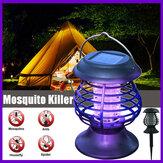 Elektrischer Fliegen-Zapper-Mücken-Insektenvernichter UV LED Lila Tube Lichtfalle Pest Solar IP65 8 Stunden arbeiten 600mAh Repeller Camping Outdoor / Indoor