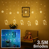3.5M 138LED Curtain Fairy Light 8 Modes Wall String Lamp Christmas Party Home Decor EU Plug AC220V