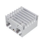 All Metal Dual-head Two-color Mixing Nozzle Cooling Block Heatsink for Extruded Aluminum Block