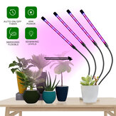 3 cabezas / 4 cabezas de espectro completo LED Grow Light Planta Growing Lámpara con clip para interiores Plantas Hydroponics