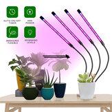 3 hoder / 4 hoder Full spektrum LED Grow Light Plant Growing Lamp med klips for innendørs planter Hydroponics