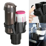 2 in 1 Auto Truck Car Seat Cup Holder Valet Beverage Can Food Drink Bottle Mount Stand Storage Organizer