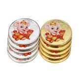 عام 2020 من عملات الجرذ التذكارية الفضية / المطلية بالذهب عملات معدنية غير العملات الرئيسية