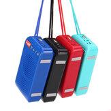 Bluetooth inalámbrico al aire libre LED Linterna Altavoz Estéreo Tarjeta TF manos libres FM Radio Altavoz con micrófono