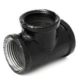 1/2 Inch 20mm Black Iron Pipe Threaded Tee Fitting Street Home Plumbing Connector