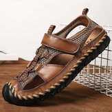 Men Casual Breathable Mesh Soft Bottom Hand-stitched Sandals