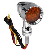 12V 10mm Motorcycle 15 LED Bullet Turn Signal Indicator Brake Lights Universal