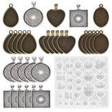 DIY樹脂鋳造金型シリコーンジュエリーペンダントクラフト金型ペンダントトレイ