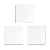 eWelink 1/2/3 Gang WIFI Smart Mechanical Switch Touch Panel Wall Light Switch APP Remote Control Switch Single Live Wire No Neutral Line Switch Support 433Mhz Remote Control