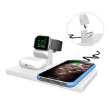 Bakeey 3 in 1 QI Wireless Charger Dock for Apple Watch for iPhone 12 Mini/12 Pro/12 Pro Max for AirPods 2 Pro