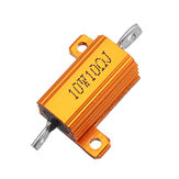 3pcs RX24 10W 10R 10RJ Metal Aluminum Case High Power Resistor Golden Metal Shell Case Heatsink Resistance Resistor