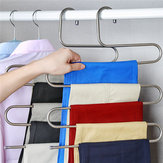 S Type Pakaian Celana Celana Hanger Multi Layers Storage Rack Closet Ruang Saver Stainless Steel