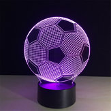 5V 3W 3D LED Fooball Night Light 7 Colors Touch Switch Remote Control Desk Room Lamp