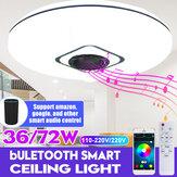 36W / 72W WIFI LED Luz de teto RGB Bluetooth Lâmpada regulável por música APP remoto