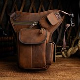 Men Genuine leather Vintage Multi-pocket Crossbody Bag