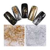 Silver Gold Thread Shimmer Glitter Nail Art DIY Dekoration