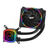 AIGO darkFlash DT120 Water Cooling Fan Ice Tower Water Cooler with RGB 120mm 4Pin PWM CPU Cooling for Inetel AMD CPU