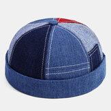 Banggood Design Men Patchwork Splicing Lattic Modello Cappellino da padrone di casa senza tesa