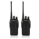 2 unidades / conjunto Baofeng BF-888S Walkie Talkie Estação de rádio portátil BF888s 5W BF 888S Comunicador Transmissor Transceptor Conjunto de rádio