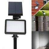 Solar powered 48 LED luz outdoor caminho parede paisagem casa jardim cerca lâmpada