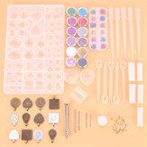 107 stuks epoxyhars gieten mallen sieraden hanger ambachtelijke maken siliconen mal kit