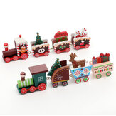 Wooden Christmas Train Ornament Christmas Decoration For Home Santa Claus Gift
