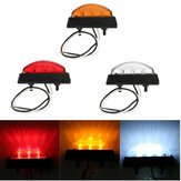 6 LED Side Marker Licht Indicator Lamp Bus Truck Trailer Vrachtwagen Caravan 12 / 24V E4