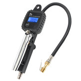 100 PSI Tyre Inflator LCD Digital Metal Air Pressure Tire Gauge PSI With Hose For Motorcycle Car