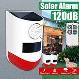 Impermeabile LED solare Allarme luminoso Wireless lampeggiante Security Wall lampada per giardino esterno con controllo remoto