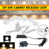 12V 6 in1 Side Outgoing Line Cabinet Recessed LED kitchen Light 200LM UK Plug