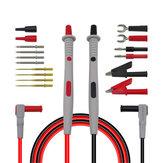 Cleqee P1503B Multimetersonden Austauschbare Nadeln Messleitungen Kits Sonden für digitale Multimeter-Fühler für Multimeterspitzen