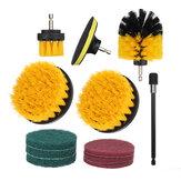 Brosse de nettoyage de perceuse électrique 12 pièces avec éponge et étendre la brosse de nettoyage de cuve d'épurateur de puissance de coulis de tuile d'attachement