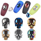 1pc 3D Skull Nail Rhinestones Skeleton Flat Bottom AB Color Nails Art Decoration Jewelry Manicure