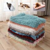 رقيق أفخم بطانية الحيوانات الأليفة اضافية Soft الدافئة رمي البطانيات للحيوانات الأليفة القط الكلب النوم حصيرة وسادة فراش