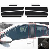 Decorazioni per decalcomanie di adesivi per pellicole per pilastri in fibra di carbonio 3D 5D stile A / B / C per VW MK7 Golf 7