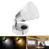 12V LED lampe de lecture lampe de livre de chevet à fixation murale
