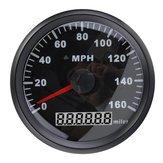 85MM acciaio inossidabile nero GPS Tachimetro 0-160MPH per il motociclo del camion dell'automobile
