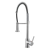 Chrome Pull Down Vessel Kitchen Faucet Deck Mount Single Hole Sink Mixer Tap