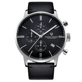 PAGANI 2720K Fashion Leather Strap Men Watch Calendar Stopwatch Quartz Watch dengan Box